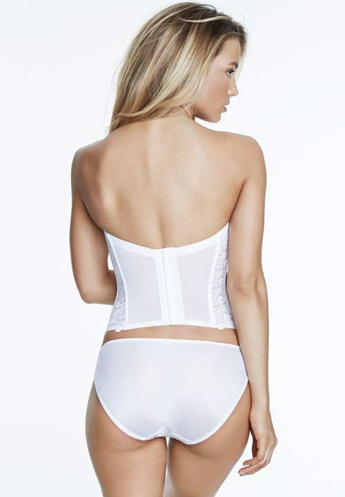 Low Back Bridal Basque In Lace